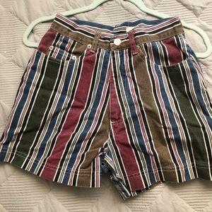 Pants - Stripes high waisted shorts